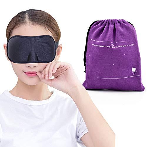 (3D Memory Foam Pad Eyeshade Sleeping Cover Travel Sleep Eye Mask Blindfold Travel Office Rest Sleep Eye Mask Shades Soft Sponge Purple)
