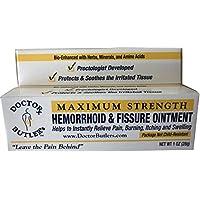Ungüento para hemorroides y fisuras del doctor Butler ... Fórmula de alivio y curación aprobada por la FDA (también contiene hierbas orgánicas, minerales y aminoácidos)
