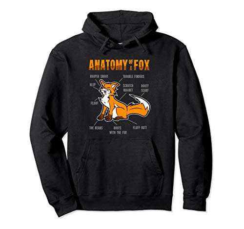Anatomy Fox Furry Fursona Hoodie Gift Women Men -