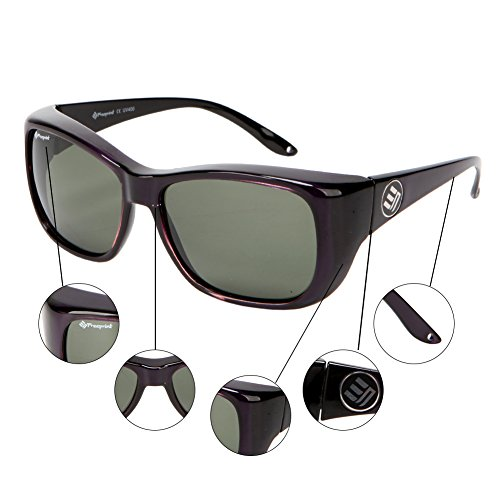 Freeprint Polarized Solar Shield Fit Over Glasses Driving Sunglasses for Men and Women,Purple by Freeprint (Image #4)