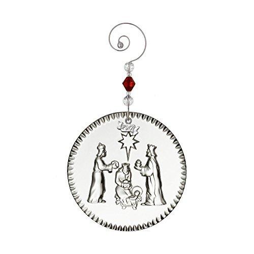 Nativity Tree Ornament - Waterford 2017 Nativity Three Wisemen Crystal Christmas Tree Ornament New