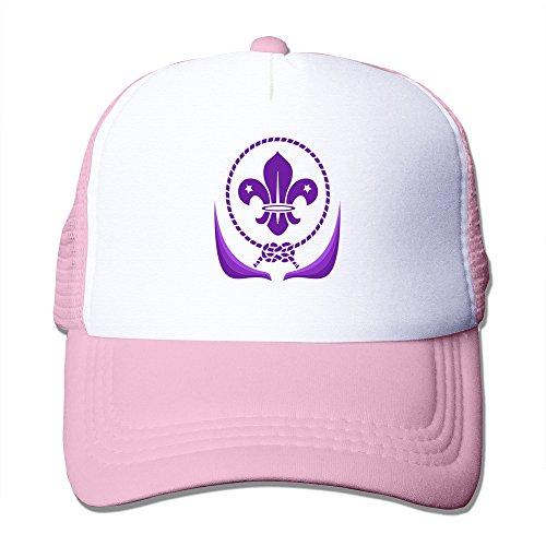 Scout Uniform Unisex Trucker Baseball Mesh Hat Adjustable Fashion Hats Pink