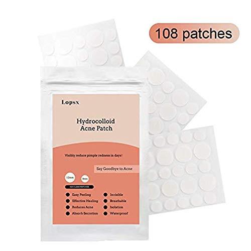 Acne Pimple Patch Lopsx Hydrocolloid Acne Spot Pimple Patches 108 Count