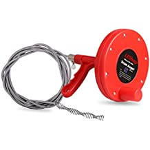 Drain Snake,LEShop Drain Auger Great Drain Clog Remover Use For Plumbing Snake Pipe Cleaner,Sewer/Bathtub Drain/ Kitchen Sink Cleaner (Red)