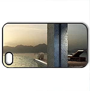 magnificent infinity pool - Case Cover for iPhone 4 and 4s (Watercolor style, Black)