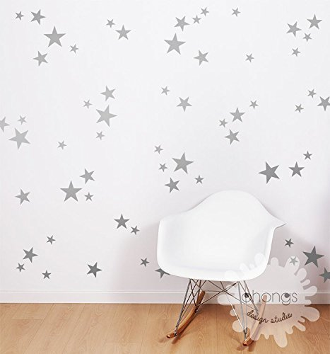A Star In The Wall / 3 Size Star Wall Decal / Star Decal / Gold