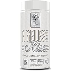 AGELESS KISS - Weight Loss For Women, Natural Fat Burner & Anti-Aging Skin Care Supplement | Thyroid Support, Cortisol Manager & Metabolism Booster for Stress Relief & Mood | Lose Belly Fat -60 Pills
