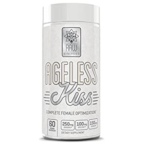 Ageless KISS Weight Loss for Women, Natural Fat Burner & Anti Aging Skin Care Supplement | Thyroid Support, Cortisol Manager & Metabolism Booster for Stress Relief & Mood | Lose Belly Fat 60 Pills