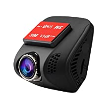 Tebrcon Car Dash Cam Full HD 1080P Dashboard Camera 140 Degree Wide View Angle Driving Recorder for Cars with Sony IMX323 Sensor,WDR,G-sensor,Motion Detection,Parking Monitoring and Loop Recording