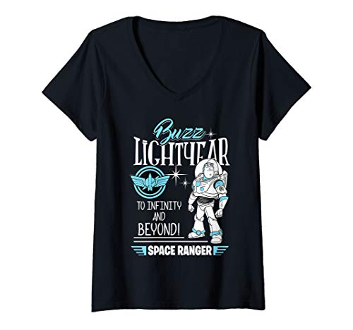 Womens Disney Toy Story Retro Buzz Lightyear Space Ranger V-Neck T-Shirt]()
