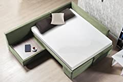 Enjoy the cool comfort and memory foam support of the Sleep Master Gel Memory Foam Sofa Mattress by Zinus. The 1 inch of premium gel memory foam combined with 4 inches of high density support foam ensures that guests will sleep cool and comfo...