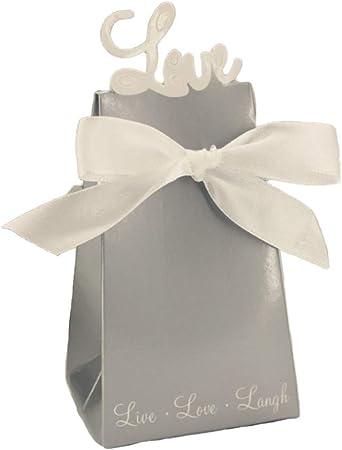 100 Piezas De Cajas De Dulces Individuales Cubo Con Cinta Para Pastel Tratar Fiesta De Cumpleaños Cumpleaños Caja De Favor Casera Regalo Macaron Contenedores,Grey-6.3 * 5 * 10cm: Amazon.es: Hogar