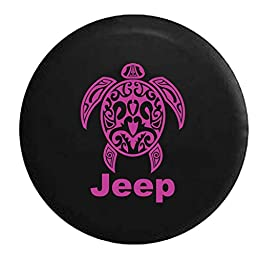 PinkInk - Jeep Sea Turtle Diving Beach Marine Life Spare Tire Cover OEM Vinyl Black 32-33 in