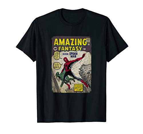 Marvel Comic Covers - Marvel Spider-Man Comic Book Cover Print Graphic T-Shirt