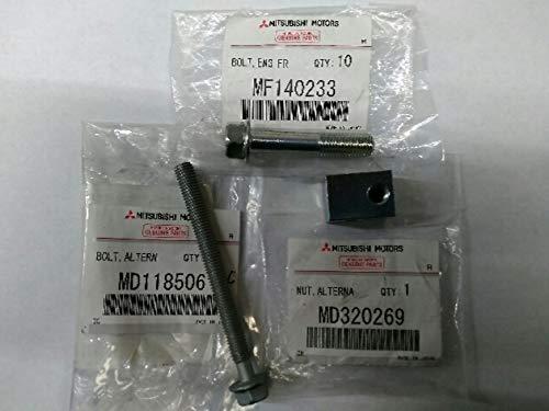 Genuine Mitsubishi Alternator Tensioner Bolts & Nut MD118506 / MF140233 / MD320269 Lancer 2002 2003 2004 2005 2006 2007