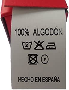 100 Etiquetas de composición 100% Algodón para etiquetar sus prendas: Amazon.es: Hogar
