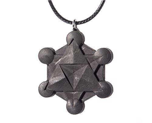 Keled Rocks Metatrons Cube Pendant Necklace from Shungite Stone ()