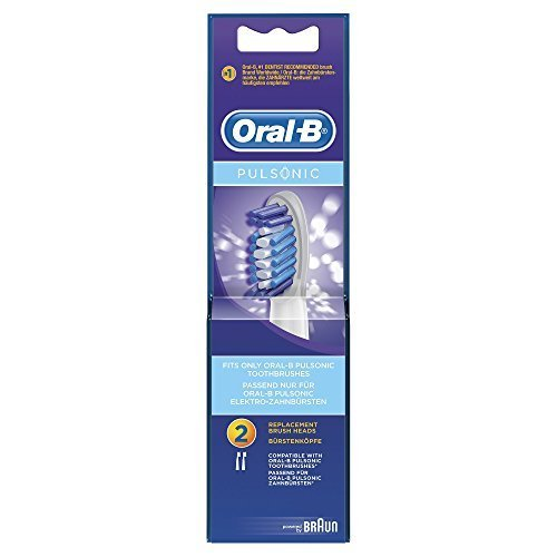 Braun Oral-B SR32-2 Pulsonic Replacement Rechargeable Toothbrush Heads by Oral-B
