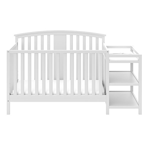 Storkcraft Greyson 4-in-1 Convertible Crib and Changer, White ()