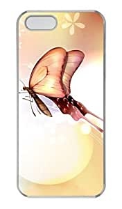 Butterfly Love PC Transparent custom iphone 5S case for Apple iPhone 5/5S