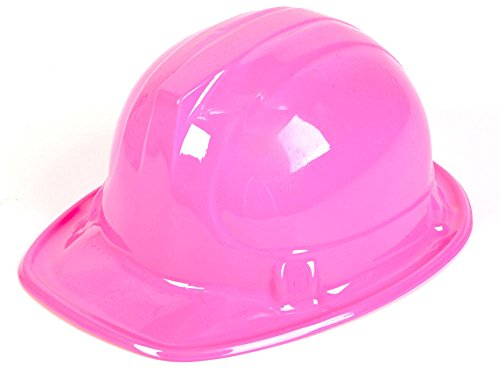New Girl's Pink Plastic Construction Costume Hard Hat