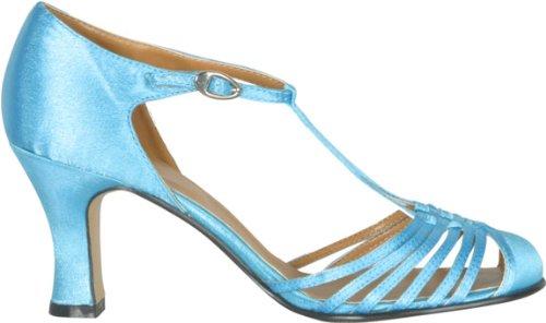Women's Blue 20s Style Strap Shoes (Sz Medium 7-8) by Plats (Image #1)