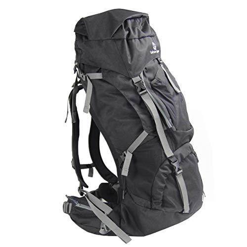 Tahoe Gear Fairbanks 75L Premium Internal Frame Hiking Backpack – Black