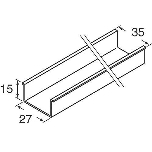 DIN RAIL 35X15MM UNSLOT STEEL 2M (Pack of 5) (TS3515SOL)
