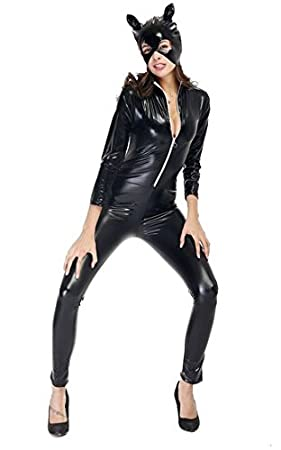 cc73b801411 Image Unavailable. Image not available for. Colour  Sexy Catwoman Ladies Fancy  Dress Costume Outfit ...