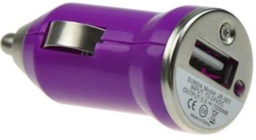 USB Car Charger Adapter - Purple (Various Colors Available) from celtalux.com / celtalux@ebid.net