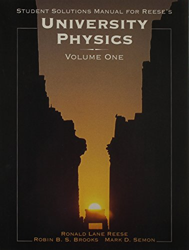 UNIVERSITY PHYSICS STUDENT SOLUTIONS MANUAL V1