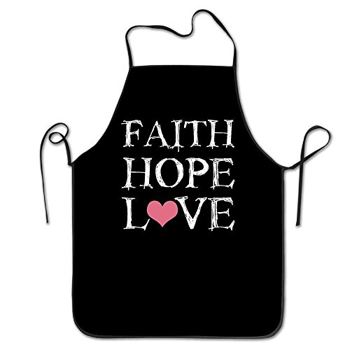 GAMSJM Personalized Kitchen Aprons Faith Hope Love Machine Washable Durable String Apron For Women&Men BBQ,Cooking,Working,Grilling,Baking,Crafting by GAMSJM