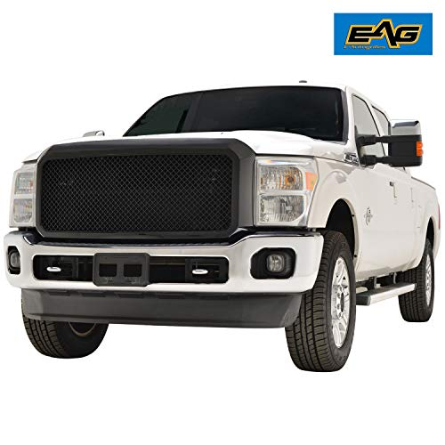 EAG Replacement Upper Full Grille ABSMesh Front Hood Grill Fit for 11-16 Ford F250/F350 Super Duty