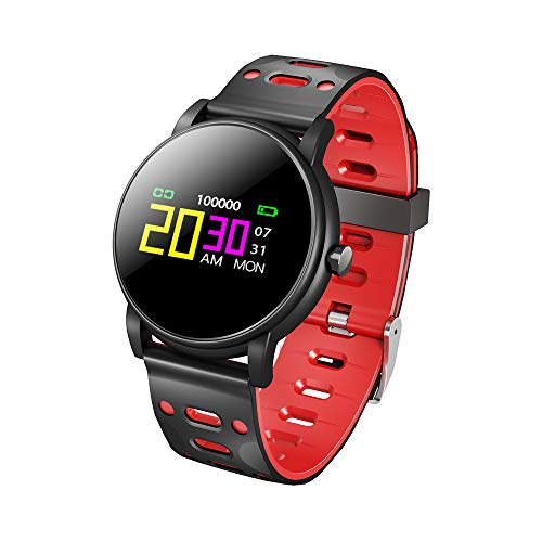 WSJ Z7 Color Screen Smart Bracelet, Heart Rate + Blood Pressure + Health Monitoring + Waterproof + Sports + Information Smart Reminder and Other Multi-Function,Blackredsilicone ()