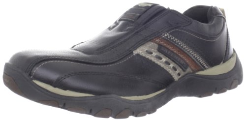 Skechers Para Hombre Relaxed Fit Memory Foam Artifact Excavate Slip-on Black Charcoal