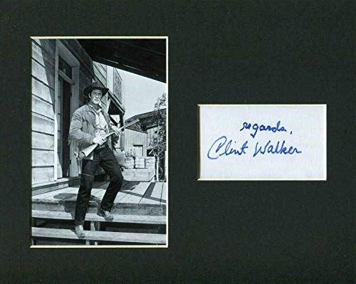 Walker Signed Photo - Clint Walker Cheyenne Cowboy Western Star Rare Signed Autograph Photo Display