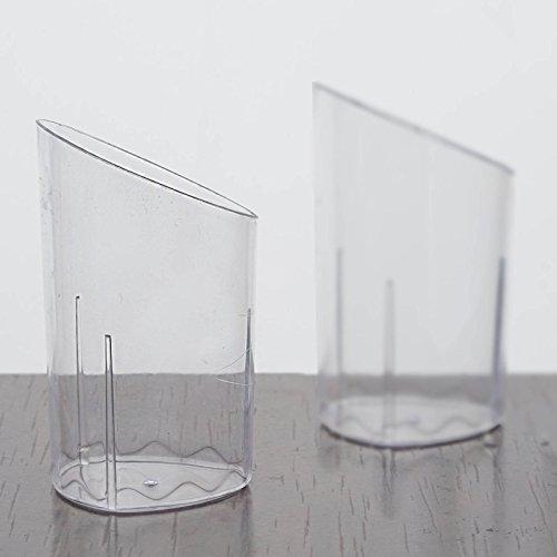 Efavormart 60 Pcs - Clear Petite 3oz Flasket Disposable Plastic Dessert Cup