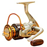 Iusun Fishing Reels EF500-EF9000 12BB Metal Spool Folding Arm Left Right 5.2:1 Spinning Reel Saltwater Freshwater Wheel Gear Light Weight Ultra Smooth Powerful High Speed Low Profile Baitcasting
