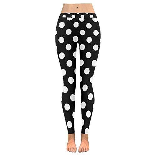 InterestPrint Polka Dot Pattern Stretchy Capri Leggings Pants