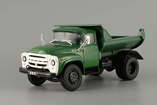 ZIL-130 Dump Truck USSR 1979 Year 1/43 Scale Collectible Green Diecast  Model Car