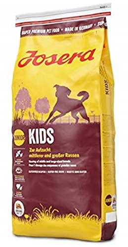 JOSERA Kids (1 x 15 kg) | Welpenfutter für mittlere und große Rassen | ohne Weizen | Super Premium Trockenfutter für…