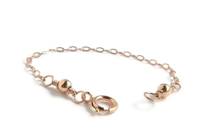 Amazoncom Rose Gold Necklace Extender 14K Rose Gold Filled