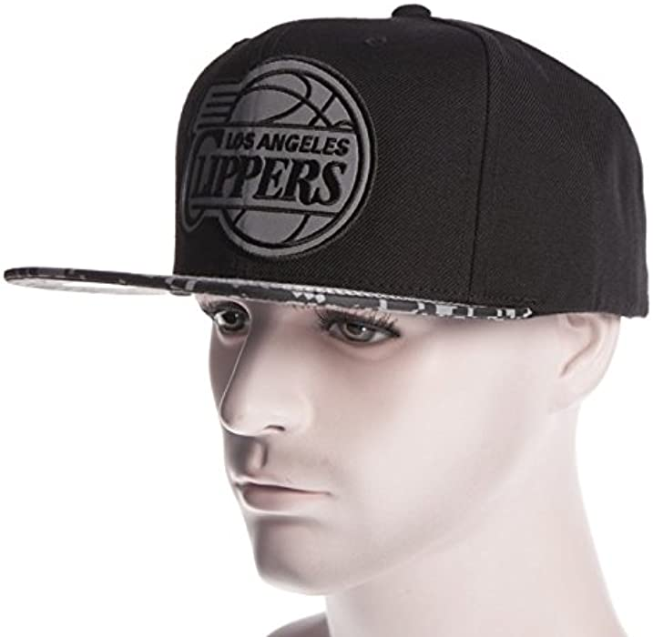 b73c792226adc Gorra Mitchell   Ness  VE36Z LA Los Angeles Clippers BK  Amazon.es ...