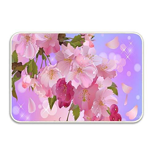Apple Blossoms Sweet Doormat Indoor Outdoor Entrance Rug Floor Mats Shoe Scraper Rubber Backing 16x24 in