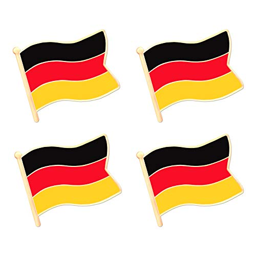 ALEY Germany German Flag Lapel Pin Decorations (4 Pack)
