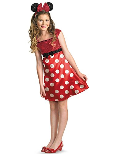 Teen Girl Halloween (Disney Minnie Mouse Clubhouse Tween Costume, Red/White/Black,)