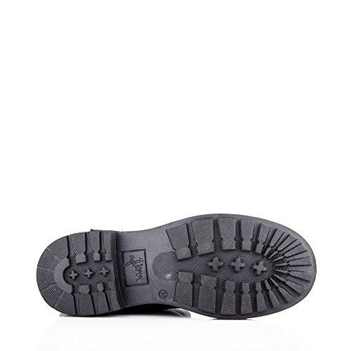 Felmini - Chaussures Femme - Tomber en amour avec Harlem 8489 - Bottes de Cowboy & Biker - Cuir Véritable - Noir - EU: