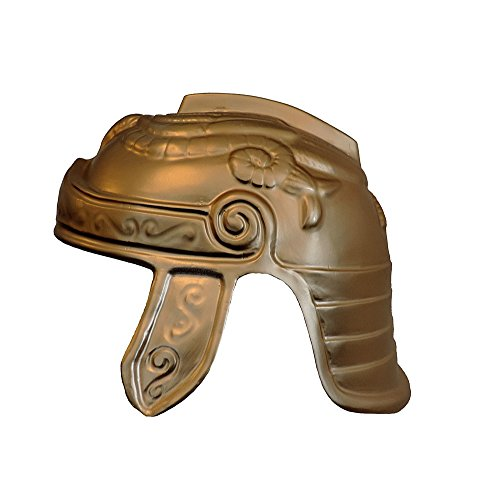 Jacobson Hat Company Roman Trojan Warrior Soldier Costume Helmet, Gold