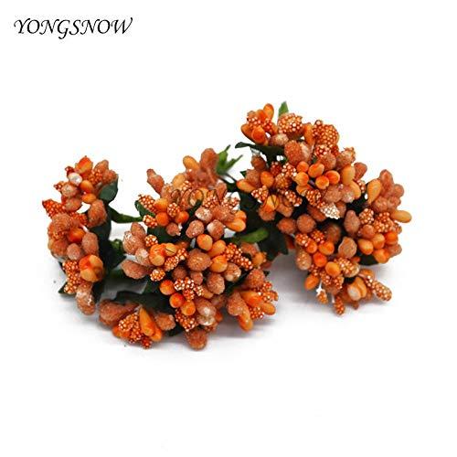 Flower Bouquet - 144pcs Lot Diy Mulberry Party Artificial Flowers Mini Silk Glass Bouquet Stamen Wire Box Wedding - Charm Case Ornament Tiffany Eiffel Ribbon Cards Handle Diy Delivery ()