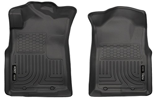 2005-2015 Toyota Tacoma Extended Cab Pickup - All Weather Technology Floor Liners by Husky Liners ( Weatherbeater Series Front Row - Black ) (Toyota Carpet Pickup Cab Extended)